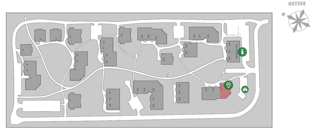 Lageplan Dünenpark Binz_Haus 39_Appartement 283